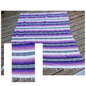 Vintage Bohemian Tweed  Serape, Blanker, Throw